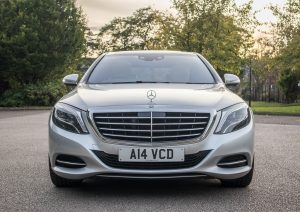 Front end of the Merc S Class